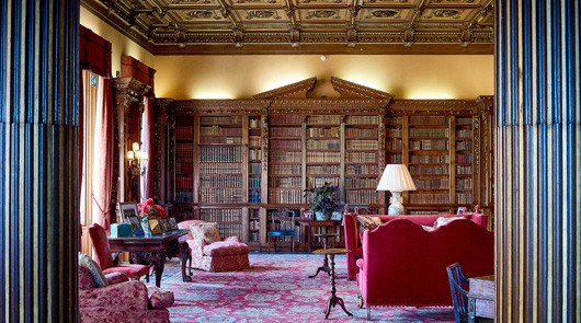 Downon Abbey Coach Tour - the Library