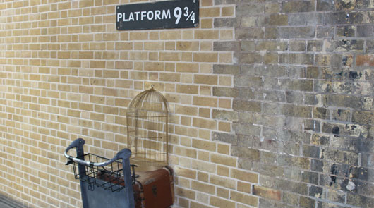 Platform 9/34 location - Harry Potter Tour