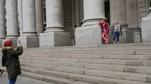 mary poppins tour - steps of St Pauls Cathedral